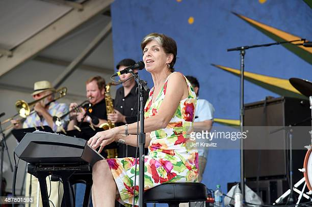 Marcia Ball performs during the 2014 New Orleans Jazz Heritage Festival at Fair Grounds Race Course on May 1 2014 in New Orleans Louisiana