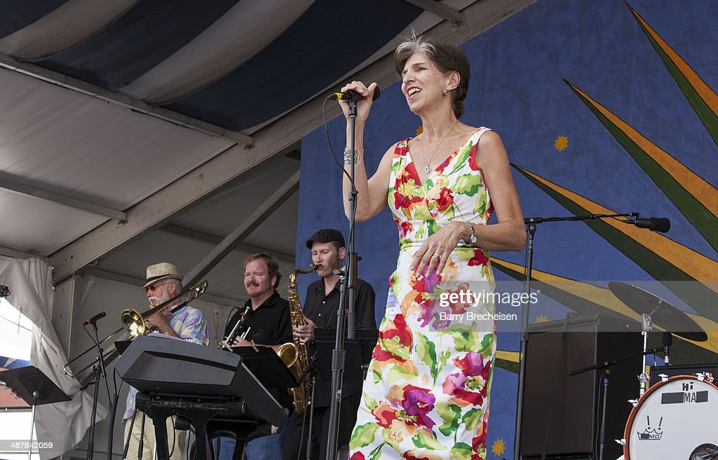 Marcia Ball performs during the 2014 New Orleans Jazz & Heritage Festival at Fair Grounds Race Course on May 1, 2014 in New Orleans, Louisiana.