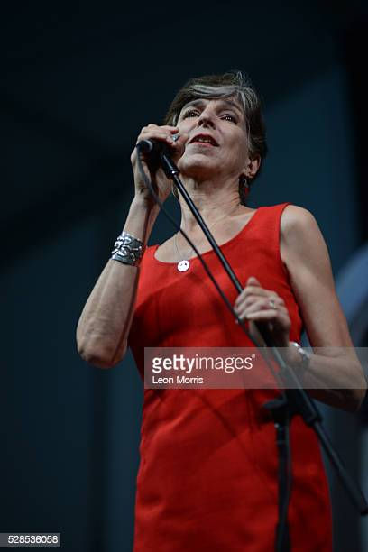 Marcia Ball performs on stage at the New Orleans Jazz and Heritage Festival on May 1 2016 in New Orleans Louisiana