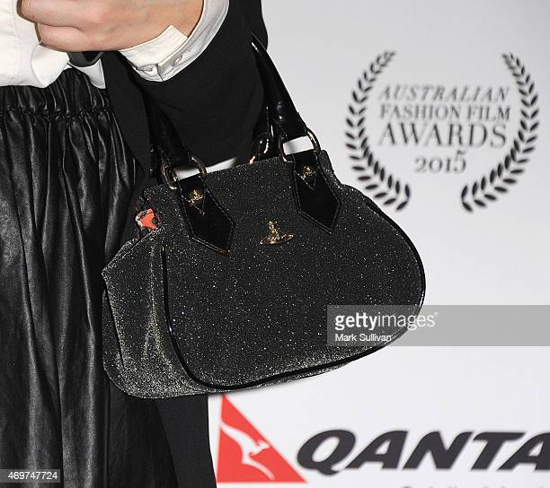Marcia Ball purse detail at the Australian Fashion Film Awards at the QT Private Screening Hall on April 15 2015 in Sydney Australia