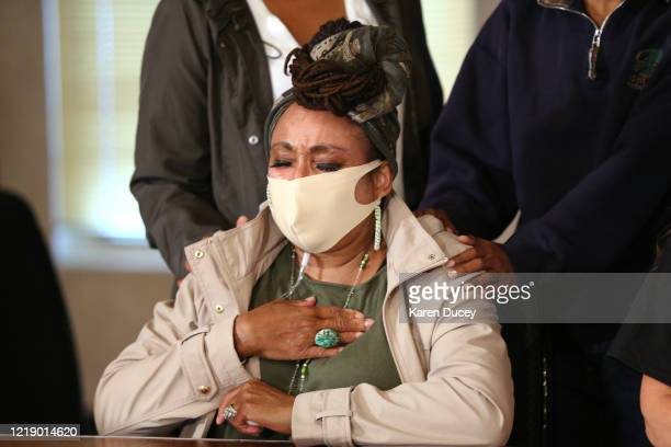 Marcia CarterPatterson mother of Manuel Ellis a 33 year old black man who died while in the custody of the Tacoma Police department in March reacts...