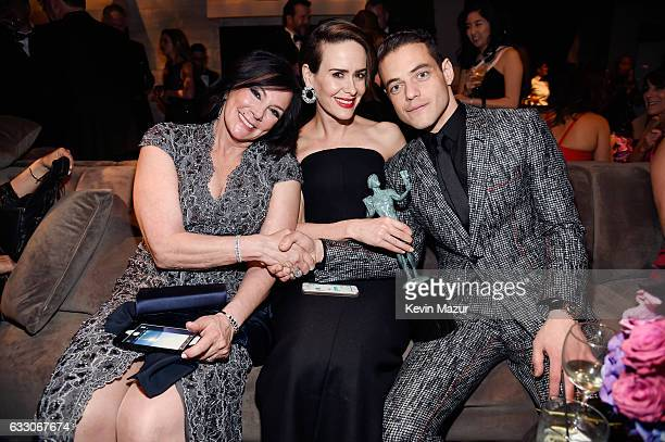 Marcia Clark Sarah Paulson and Rami Malek attend People And EIF's Annual Screen Actors Guild Awards Gala at The Shrine Auditorium on January 29 2017...