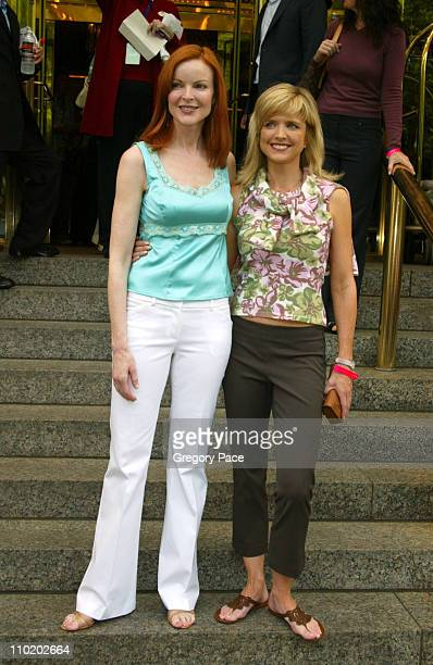 Marcia Cross and Courtney ThorneSmith during ABC 20042005 Upfront Arrivals at Midtown Hotel and Cipriani's in New York City New York United States
