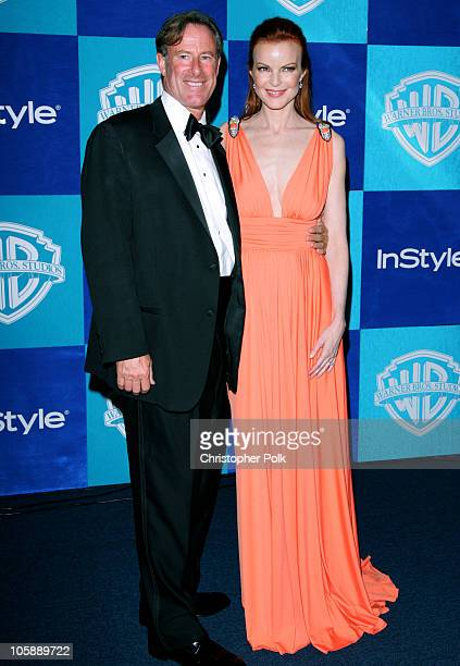 Marcia Cross and fiance Tom Mahoney during InStyle & Warner Bros. 2006 Golden Globes After Party - Arrivals at The Oasis at the Beverly Hilton in...