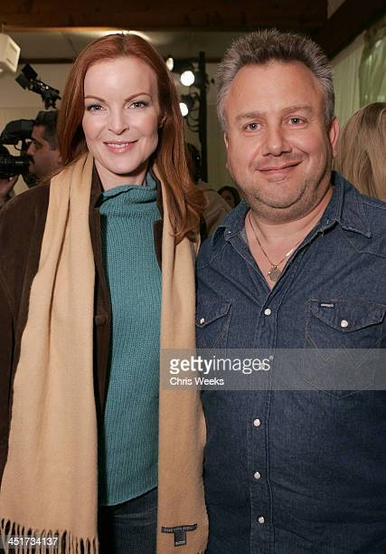 Marcia Cross and guest during Photographer's Gallery Presents Slim Aarons Curated by Kate Spade at Fred Segal Cafe in West Hollywood California...