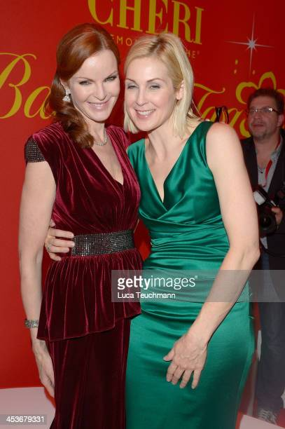 Marcia Cross and Kelly Rutherford attend the Barbara Tag 2013 at Postpalast on December 4 2013 in Munich Germany