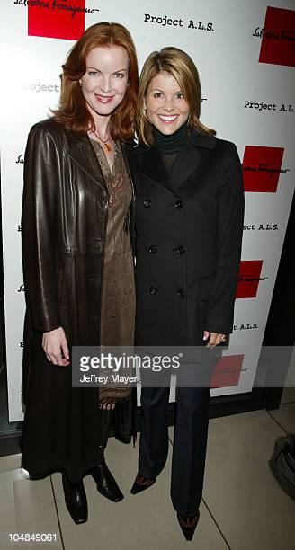 Marcia Cross and Lori Loughlin during Salvatore Ferragamo Launches New Handbag and Benefits Project ALS at Salvatore Ferragamo Beverly Hills Store in...