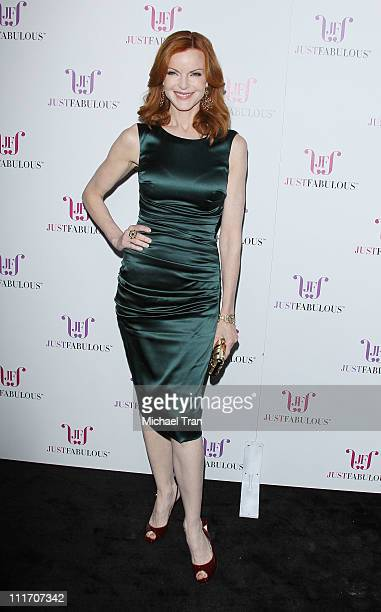 Marcia Cross arrives at the launch party for JustFabulous held at Eveleigh on April 5 2011 in West Hollywood California