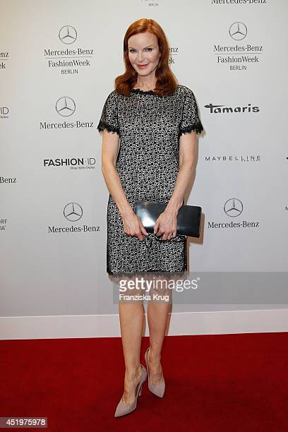 Marcia Cross attends the Marc Cain show during the MercedesBenz Fashion Week Spring/Summer 2015 at Erika Hess Eisstadion on July 10 2014 in Berlin...