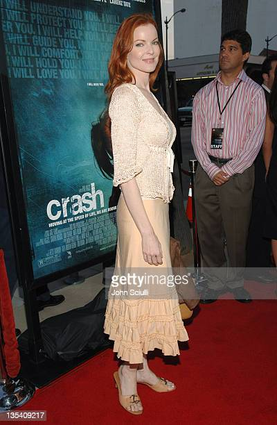 Marcia Cross during 'Crash' Los Angeles Premiere Red Carpet at The Academy of Motion Picture Arts and Sciences in Los Angeles California United States
