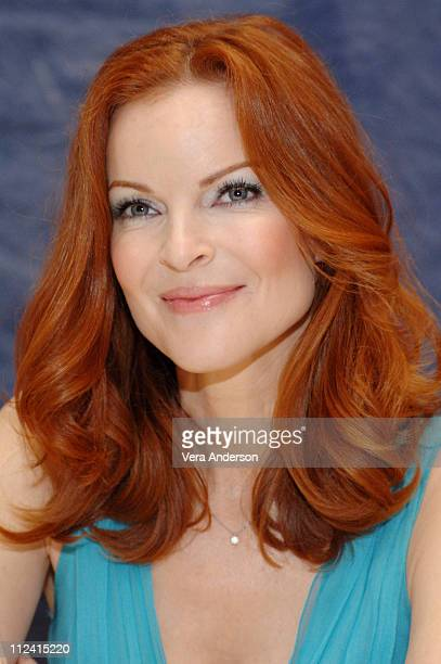 Marcia Cross during 'Desperate Housewives' Press Conference with Marcia Cross and Marc Cherry at Four Seasons in Beverly Hills California United...
