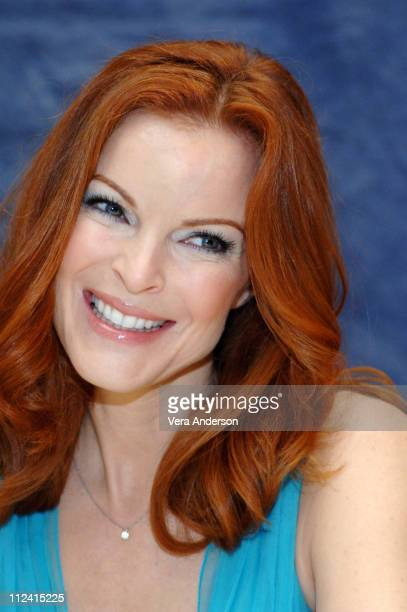 Marcia Cross during Desperate Housewives Press Conference with Marcia Cross and Marc Cherry at Four Seasons in Beverly Hills California United States