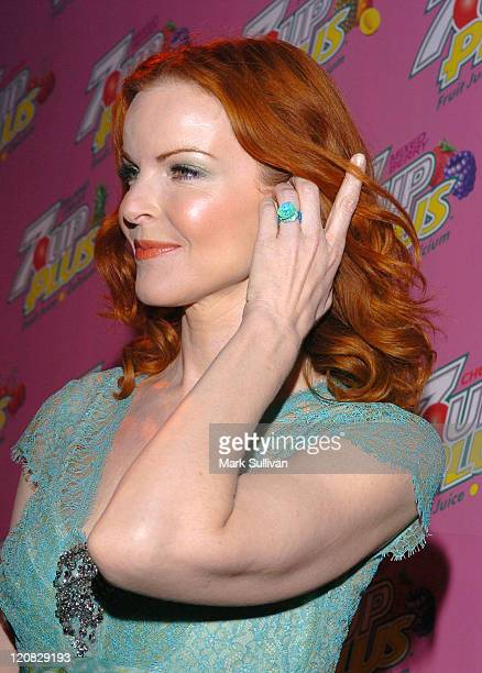 Marcia Cross during Marcia Cross and Nicollette Sheridan CoHost a Premiere Party for Their New 7 UP Plus Commercial Pink Carpet and Inside at Cabana...