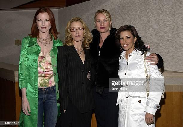 Marcia Cross Felicity Huffman Nicollette Sheridan and Eva Longoria