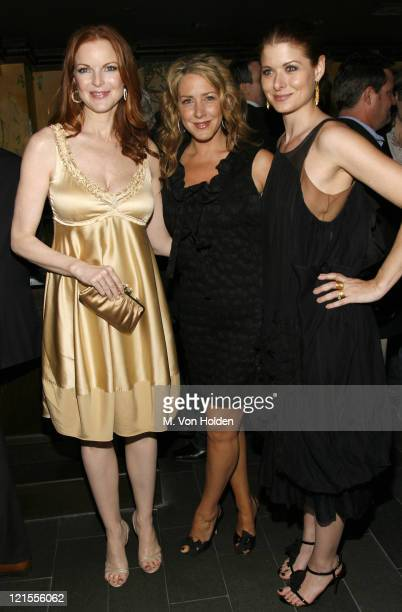 Marcia Cross Joely Fisher and Debra Messing during The Gersh Agency Celebrates 2007 Television Upfronts at the Redesigned Monkey Bar at Monkey Bar in...