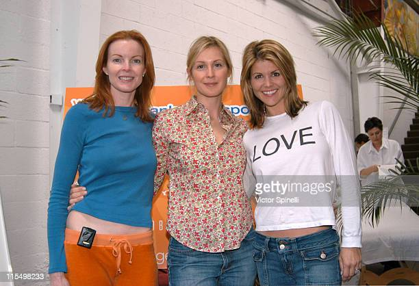 LR Marcia Cross Kelly Rutherford Lori Loughlin during Second Annual 'Step Up for Yoga Health' Charity Festival at Bergamot Station in Santa Monica...