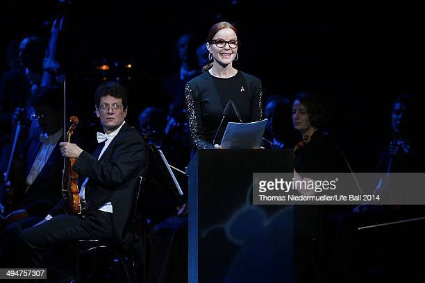 Marcia Cross performs at the 'Red Ribbon Celebration Concert United in Difference' at Burgtheater on May 30 2014 in Vienna Austria
