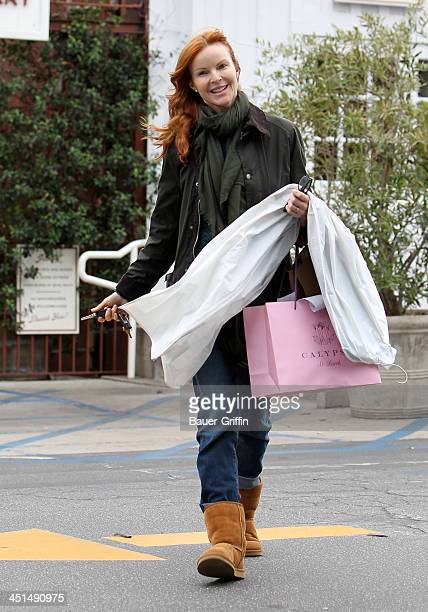 Marcia Cross sighting on November 22 2013 in Los Angeles California
