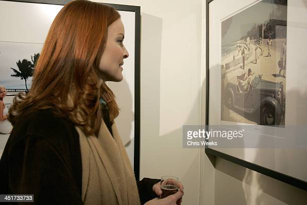 Marcia Cross with Photographs by Slim Aarons during Photographer's Gallery Presents Slim Aarons Curated by Kate Spade at Fred Segal Cafe in West...