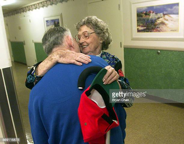 Marcia Flannery greets her son Page Dye at his residence at the Fairview Developmental Center She and her husband Mike picked him up and spent the...