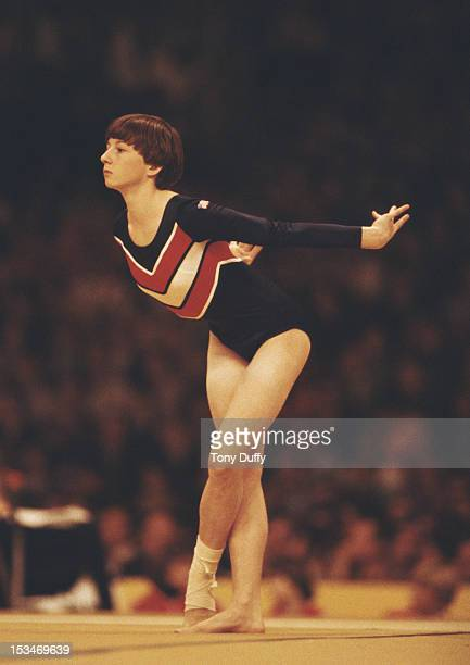 Marcia Frederick of the United States performs during the Women's Floor exercise event on 25th October 1978 during the World Artistic Gymnastics...