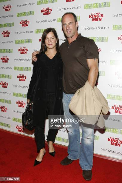 """Marcia Gay Harden and Chris Meloni during The Cinema Society Screening of """"All the Kings Men"""" at Regal Cinema Battery Park in New York, NY, United..."""