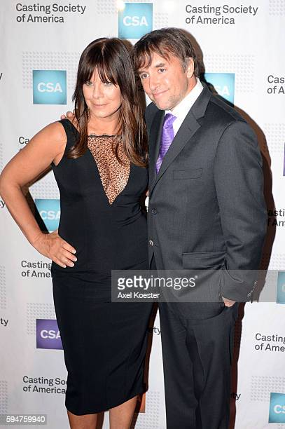 Marcia Gay Harden and David Linklater attend The Casting Society of America's 30th Annual Artios Awards Banquet at the Beverly Hilton Hotel Thursday...