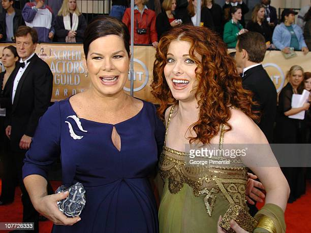 Marcia Gay Harden and Debra Messing during 10th Annual Screen Actors Guild Awards Access Hollywood Red Carpet at Shrine Auditorium in Los Angeles...