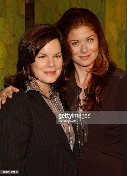 Marcia Gay Harden and Debra Messing during In Style Magazine and the DIC Host Luncheon to Celebrate the 2005 Awards Season at Beverly Hills Hotel in...