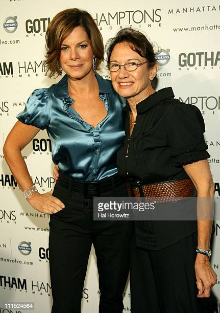 Marcia Gay Harden and her mother Beverly Harden at the Hamptons Gotham Magazine launch party for the new Manhattan Volvo September 27 2007 at...