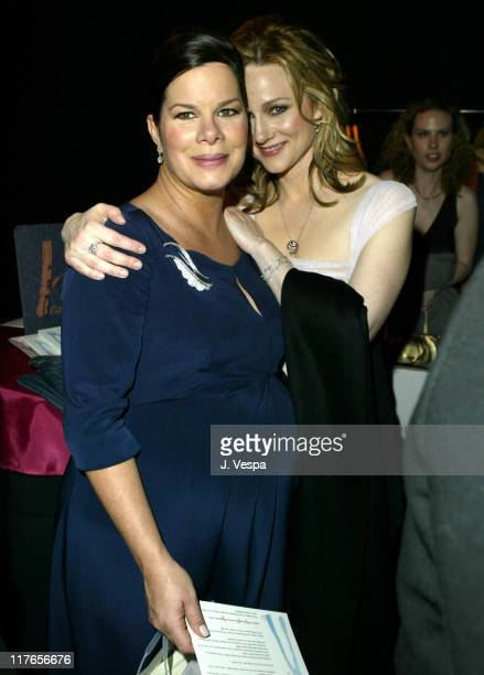 Marcia Gay Harden and Laura Linney during 2004 Screen Actors Guild Awards Backstage Creations Talent Retreat Day Two at Shrine Auditorium in Los...