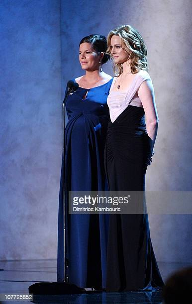 Marcia Gay Harden and Laura Linney introduce a clip from 'Mystic River' nominee for Outstanding Cast of a Motion Picture