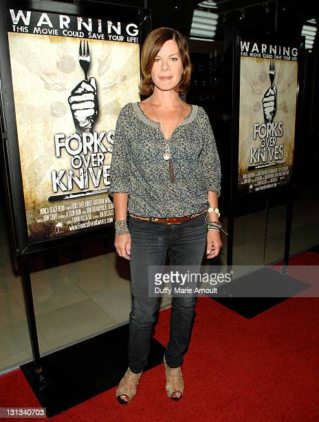 Marcia Gay Harden attends 'Forks Over Knives' World Premiere at SilverScreen Theater at the Pacific Design Center on May 2 2011 in West Hollywood...