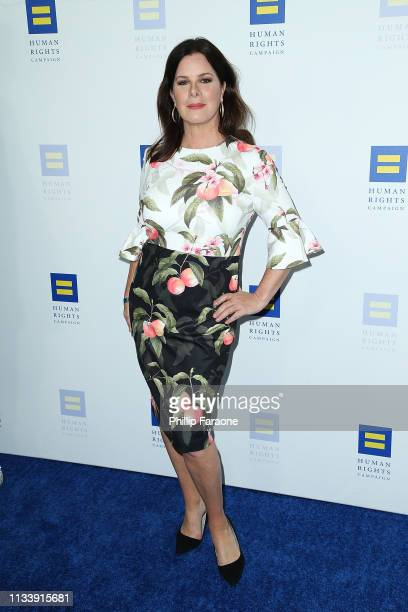 Marcia Gay Harden attends The Human Rights Campaign 2019 Los Angeles Dinner at JW Marriott Los Angeles at LA LIVE on March 30 2019 in Los Angeles...
