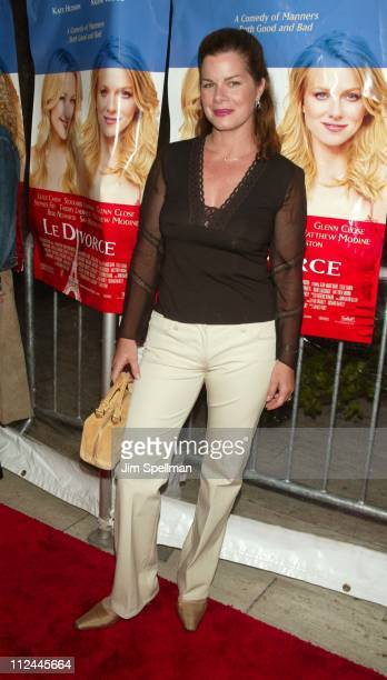 Marcia Gay Harden during Le Divorce New York Premiere Outside Arrivals at The Paris Theater in New York City New York United States