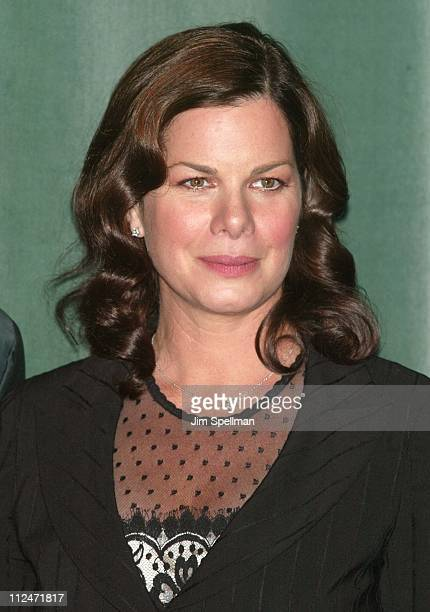 Marcia Gay Harden during New York Film Festival Press Conference for Mystic River at Walter Reade Theatre in New York City New York