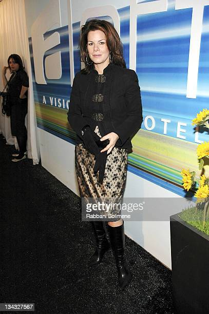 Marcia Gay Harden during Olympus Fashion Week Fall 2006 Seen Around Tent Day 3 at Bryant Park in New York New York United States