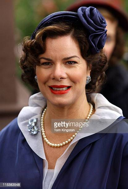 Marcia Gay Harden during On the set of Mona Lisa Smile November 6 2002 at Brooklyn in New York City New York United States