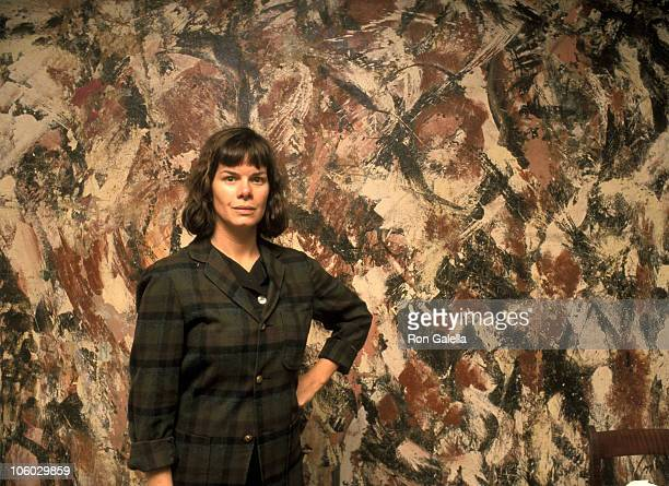 Marcia Gay Harden during On the Set of Pollock 1999 at PollockKrasner House in East Hampton New York United States