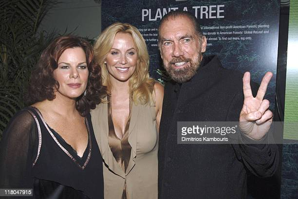 Marcia Gay Harden, Eloise DeJoria and John Paul DeJoria, founder of John Paul Mitchell Systems Hair Care