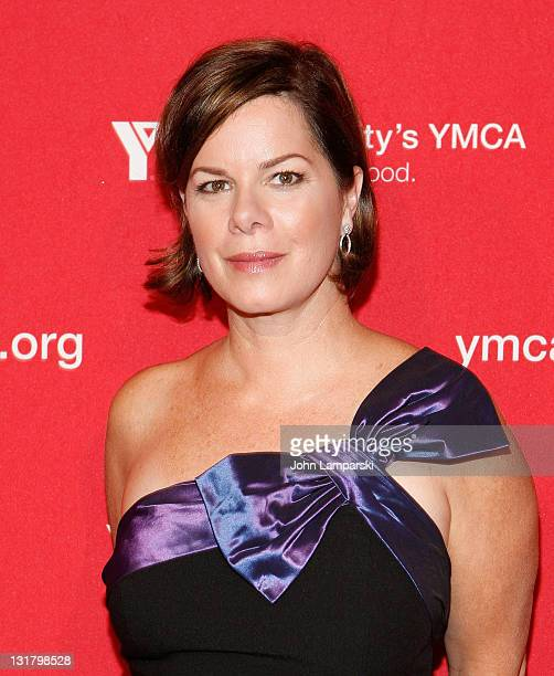 Marcia Gay Harden poses during the YMCA of Greater New York's Arts & Letters auction and reception at the Frederick P. Rose Hall, Jazz at Lincoln...