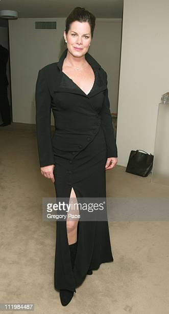 Marcia Gay Harden wearing a Nicole Miller dress during 16th Annual Conde Nast Traveler Readers Choice Awards Inside at The Guggenheim Museum in New...