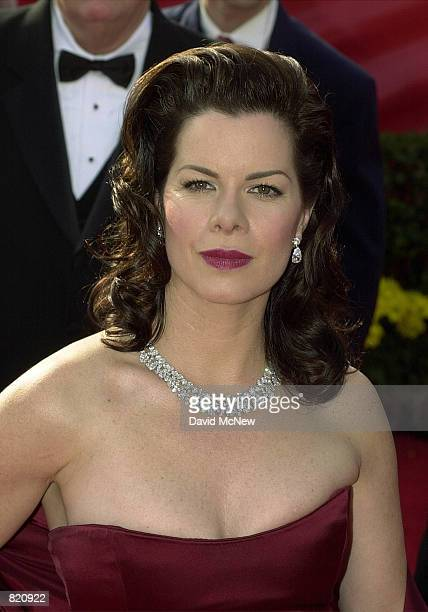 Marcia Gay Harden winner of the Best Supporting Actress Oscar for for her role as the wife of artist Jackson Pollock in Pollock arrives at the 73rd...