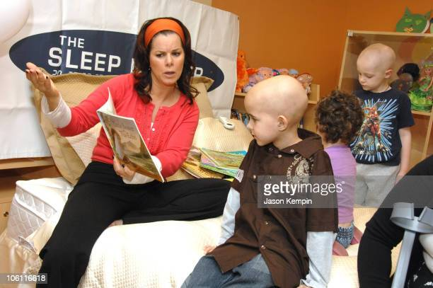 Marcia Gay Harden with Children from The Ronald McDonald House