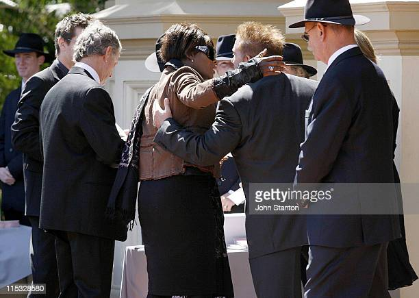 Marcia Hines during Belinda Emmett Funeral Service at Mary Immaculate Church in Sydney New South Wales Australia