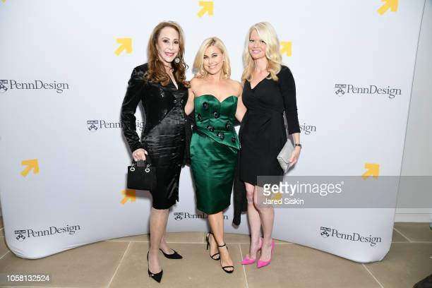 Marcia Levin Erika Katz and Diane McInerney attend Penn Design Awards 2018 at IAC Building on October 15 2018 in New York City