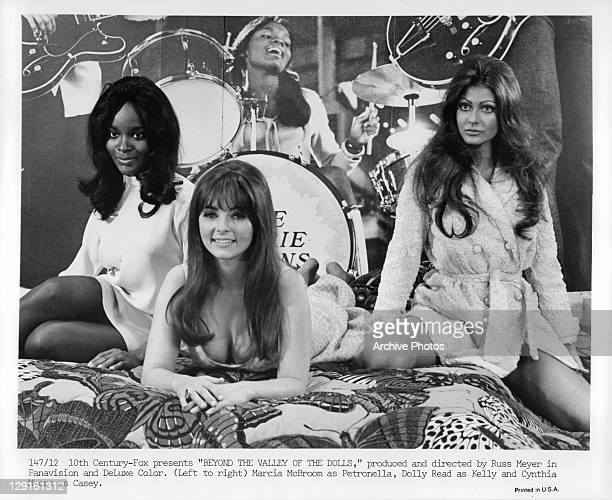 Marcia McBroom, Dolly Read, and Cynthia Myers are the Carrie Nations in a scene from the film 'Beyond The Valley Of The Dolls', 1970.