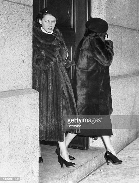Marcia Miller left furswathed Rolls Royce owner and Fern Thomas are shown as they were leaving the Federal Court Building New York November 9th after...