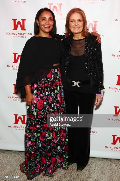 Marcia Olivo and Gloria Steinem attend the Ms. Foundation for Women 2017 Gloria Awards Gala & After Party at Capitale on May 3, 2017 in New York City.