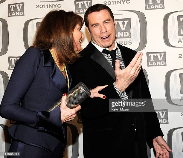 Marcia Strassman and John Travolta attend the 9th Annual TV Land Awards at the Javits Center on April 10 2011 in New York City